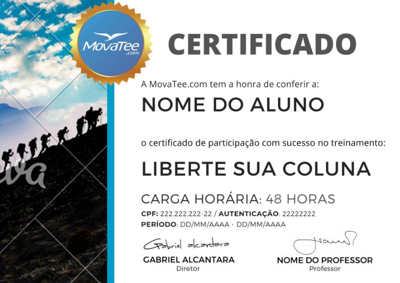 Certificado MovaTee